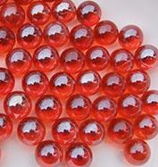 红色玻璃珠